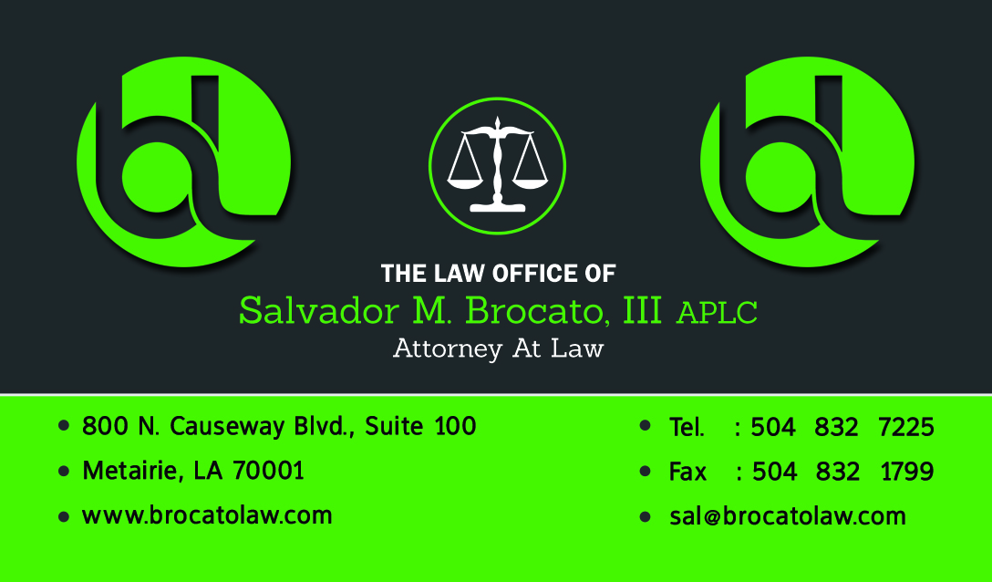 Business cards kenner la images card design and card template business card design for a new orleans louisiana lawyer sal brocato sal brocato law dwi dui reheart Images