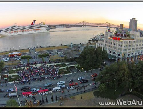 Aerial Photography New Orleans Louisiana Downtown with WebAtude